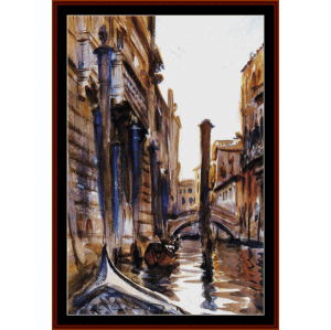 side canal in venice - sargent cross stitch pattern by cross stitch collectibles