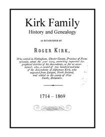 kirk family history and genealogy