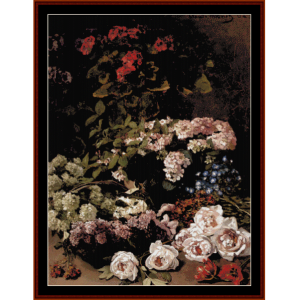 spring flowers - monet cross stitch pattern by cross stitch collectibles