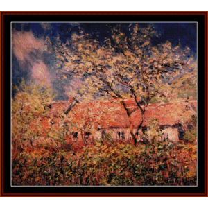 springtime at giverny - monet cross stitch pattern by cross stitch collectibles