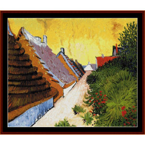 street in saintes-maries - van gogh cross stitch pattern by cross stitch collectibles