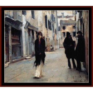 street in venice - sargent cross stitch pattern by cross stitch collectibles