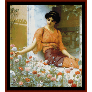 summer flowers - godward cross stitch pattern by cross stitch collectibles