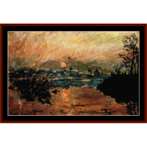 sunset - monet cross stitch pattern by cross stitch collectibles