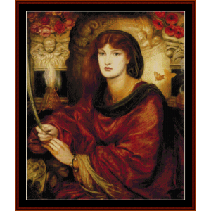 Sybilla Palmifella - Dante Rossetti cross stitch pattern by Cross Stitch Collectibles | Crafting | Cross-Stitch | Wall Hangings