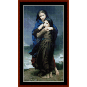 the storm - bouguereau cross stitch pattern by cross stitch collectibles