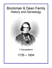 brockman dean family history and genealogy