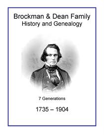 Brockman Dean Family History and Genealogy | eBooks | History