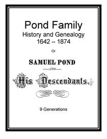 Pond Family History and Genealogy | eBooks | History