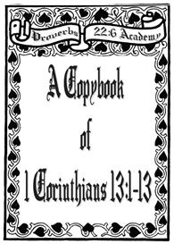 a copybook of 1 corinthians 13:1-13