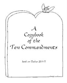 a copybook of the ten commandments