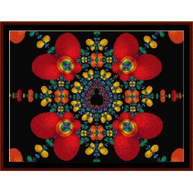 fractal 168 cross stitch pattern by cross stitch collectibles