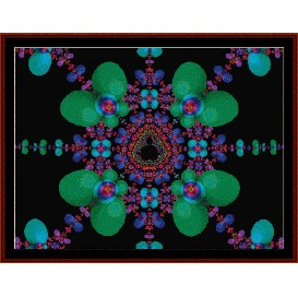 fractal 177 cross stitch pattern by cross stitch collectibles