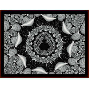 fractal 186 cross stitch pattern by cross stitch collectibles