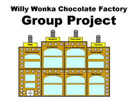 willy wonka's chocolate factory group project