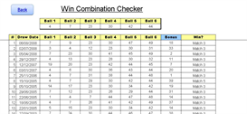 US Wild Card 2 Lotto Results Checker Excel xls Spreadsheet | Documents and Forms | Spreadsheets