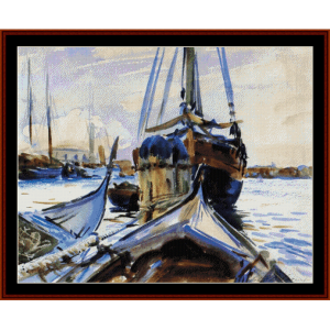 Venice - Sargent cross stitch pattern by Cross Stitch Collectibles | Crafting | Cross-Stitch | Wall Hangings