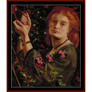 hanging mistletoe - dante rossetti cross stitch pattern by cross stitch collectibles