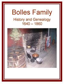 Bolles Family History and Genealogy | eBooks | History