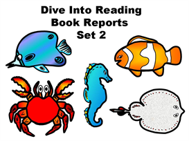 set 2:  dive into reading book report fish