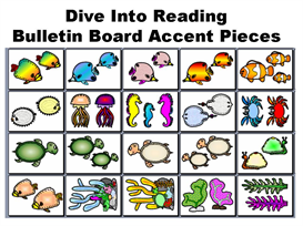 dive into reading bulletin board accent pieces