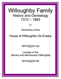 Willoughby Family History and Genealogy | eBooks | History