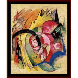 abstract form - franz marc cross stitch pattern by cross stitch collectibles