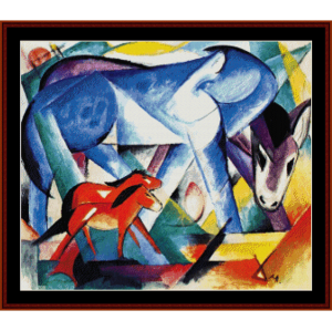 first animals - franz marc cross stitch pattern by cross stitch collectibles