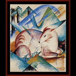 Red Deer - Franz Marc cross stitch pattern by Cross Stitch Collectibles | Crafting | Cross-Stitch | Other