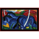 Three Blue Horses - Franz Marc cross stitch pattern by Cross Stitch Collectibles   Crafting   Cross-Stitch   Other