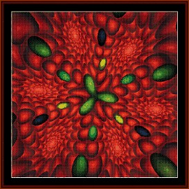Fractal 252 cross stitch pattern by Cross Stitch Collectibles | Crafting | Cross-Stitch | Wall Hangings