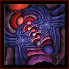 Fractal 254 cross stitch pattern by Cross Stitch Collectibles | Crafting | Cross-Stitch | Wall Hangings