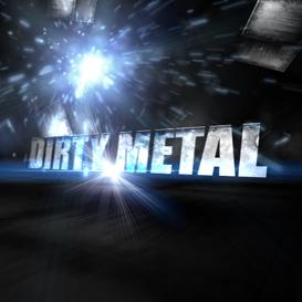 dirty metal text