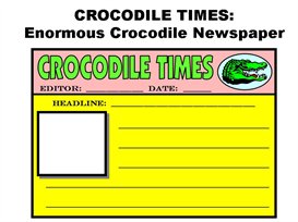 crocodile times:  enormous crocodile newspaper set