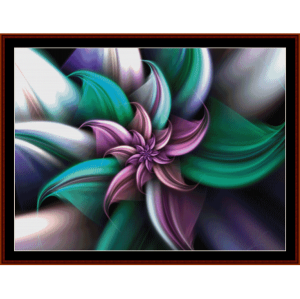 fractal 257 cross stitch pattern by cross stitch collectibles