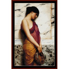tambourine girl - de blass cross stitch pattern by cross stitch collectibles