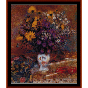 vase of flowers, lemmen cross stitch pattern by cross stitch collectibles