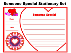 valentine's day someone special stationery set