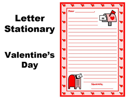 valentine's day and february letter writing stationery set