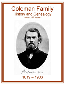 coleman family history and genealogy