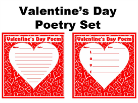 valentine's day poetry set