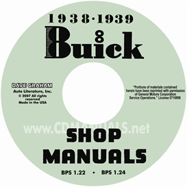 1938-1939 buick cd-rom shop manuals - all models