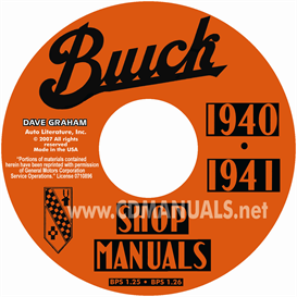 1940-1941 buick shop manuals - all models