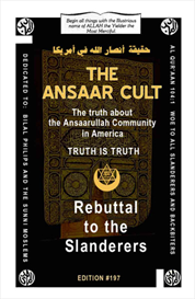 ansaar cult rebuttal to the slanderers