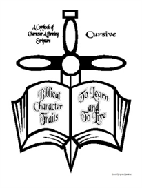 biblical character traits to learn and to live-cursive copybook
