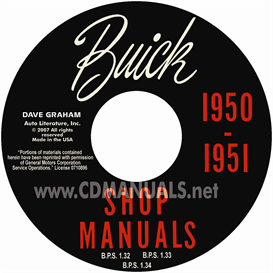 1950-1951 buick shop manual - all models