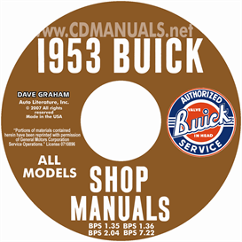 1953 buick shop manuals - all models