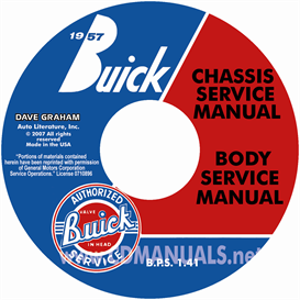 1957 buick cd-rom shop manual & body manual - all models