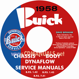 1958 buick cd-rom shop manuals - all models