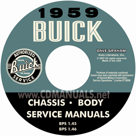 1959 buick shop manual & body manual - all models
